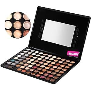 Beautify - 88 Hautfarben/Neutral Lidschatten Palette Make-Up Set Kit