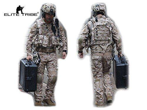 Army Military Equipment Airsoft Paintball Shooting Uniform Tactical Navy Seals Combat Uniform Shirt Pants Knee Pads AOR1 (M) (Navy Seals Airsoft compare prices)