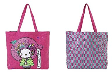919cf0570 Nugeisha Hello Kitty Canvas Tote Bag