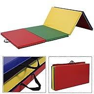 Giantex 4′x8′x2″ PU Gym Folding Panel…
