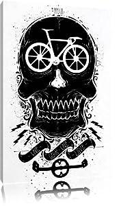 Bicicleta pintura amor blanco sobre lienzo, cuadros enormes XXL completamente enmarcado con camilla, Láminas en cuadro de la pared con el marco, más barato que la pintura o una pintura al óleo, no un cartel o pancarta - BebeHogar.com