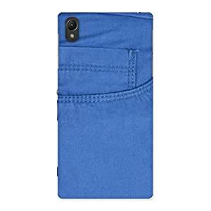 Men Royal Blue Back Case Cover for Sony Xperia Z1