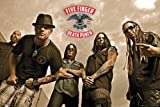 Five Finger Death Punch Band Poster with Accessory Item multicoloured