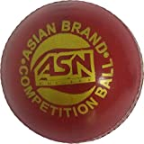 ASN Body Line Leather Cricket Ball (Red)