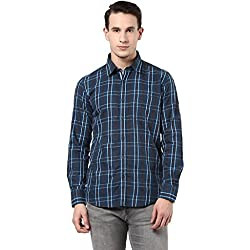 MENS COTTON SHIRT BLUE L