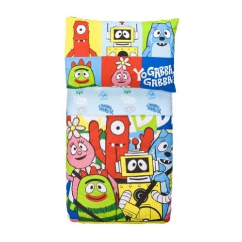 Dream Time Kids Bedding-Yo Gabba Gabba 4Pc Toddler Bedding Set, Crib, New