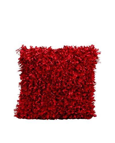 Nourison Michael Amini Shag Pillow, Red