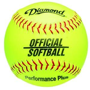 Buy Diamond 12-Inch Synthetic Optic Cover Softball, Cork Core, Dozen by Diamond Sports