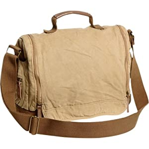 Vagabond Traveler Washed Canvas Leisure Messenger Bag by Vagabond Traveler