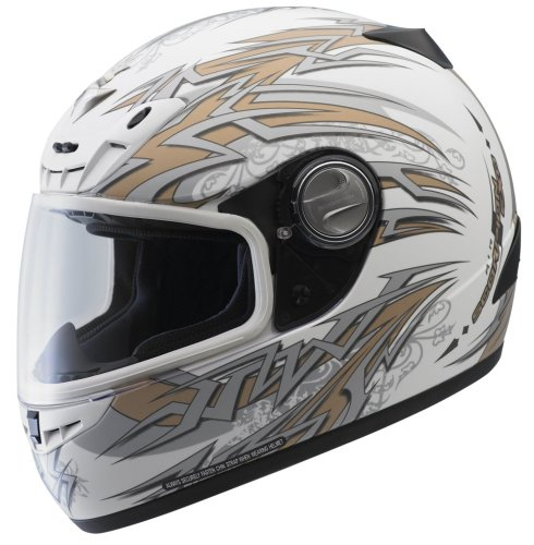Scorpion EXO-400 Rebel Matte White Large Full Face Helmet