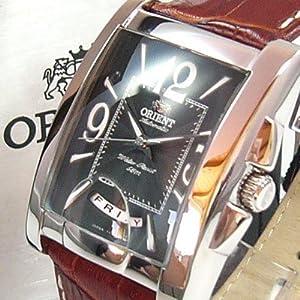 ORIENT Wide Calendar Day Date Leder Herrenuhr Tag und Datumsanzeige CEVAD004BT