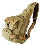 Military Inspired Backpack Sling Bag Daypack Larger Version Khaki Green