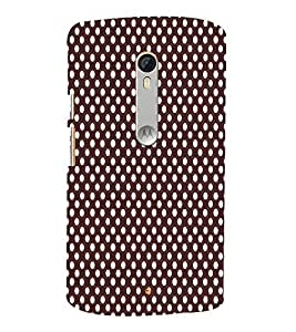 Maroon Dots 3D Hard Polycarbonate Designer Back Case Cover for Moto G Turbo Edition