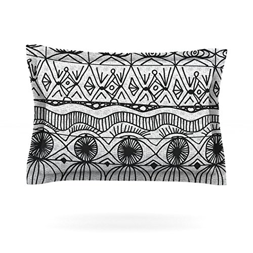 "Kess Inhouse Catherine Holcombe ""Blanket Of Confusion"" Cotton Pillow Sham, 30 By 20-Inch"