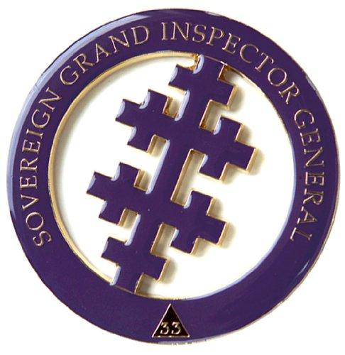 Masonic 33Rd Degree Salem Cross Freemason Auto Emblem Decal