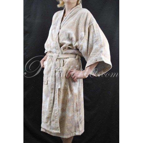 Bassetti Accappatoio M Pool Beige camouflage kimono senza cappuccio