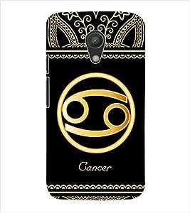 ColourCraft Zodiac Cancer Back Case Cover for MOTOROLA MOTO G2 XT1068