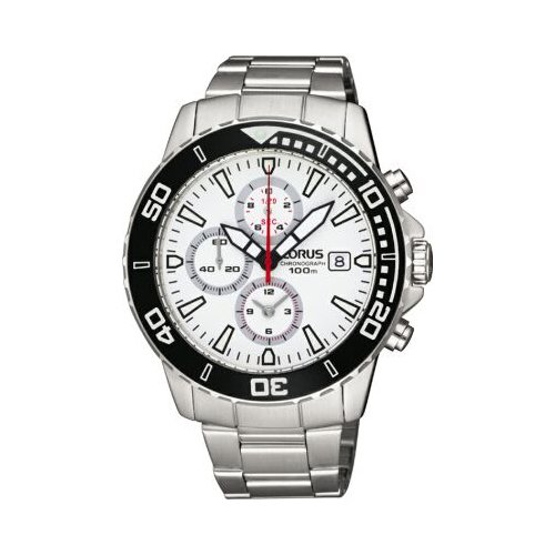 Lorus Gents Chronograph White DIal RF813CX9