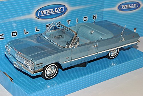 chevrolet-impala-cabrio-blau-silber-1963-oldtimer-1-24-welly-modell-auto
