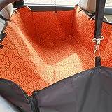 GOGO Dog Auto Travel Back Seat Pet Hammock Easy-Fit Seat Cover - Orange