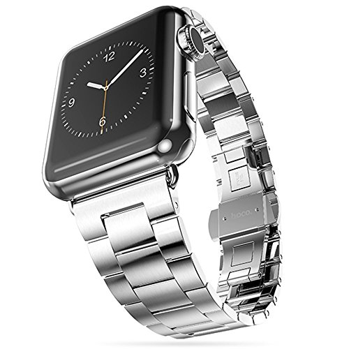 Teslasz Replacement Stainless Steel Bracelet Metal Band Strap Chain For Apple Watch iWatch (38MM Silver)