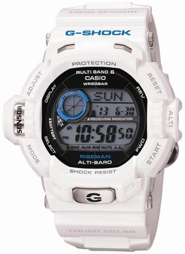 CASIO (カシオ) 腕時計 G-SHOCK RISEMAN タフソーラー 電波時計 MULTIBAND6 GW-9200PJ-7JF Men in Ice White メンズ