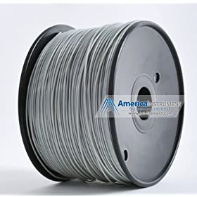 Jet- PLA (1.75mm, Grey color, 1.0kg =2.204 lbs) Filament On Spool for 3D Printer MakerBot, RepRap, MakerGear, Ultimaker and Up!