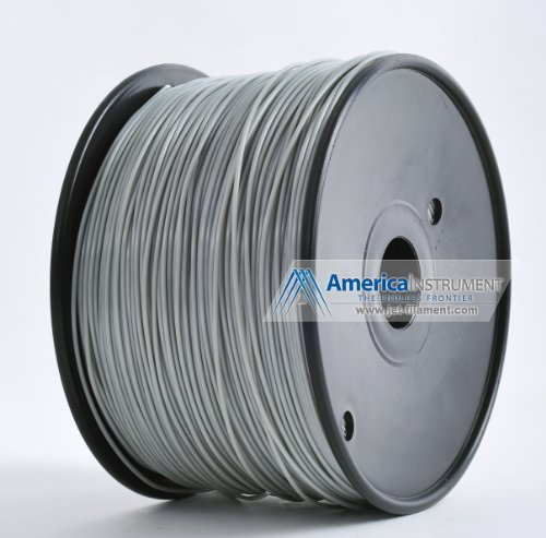 Jet - PLA (1.75mm, Grey color, 1.0kg =2.204lbs) Filament on Spool for 3D Printer MakerBot RepRap MakerGear Ultimaker & Up!