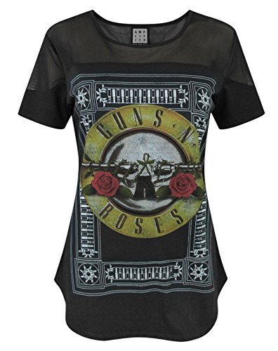Amplified Guns N Roses-Pannello trasparente, dicono le donne s T-Shirt nero medium