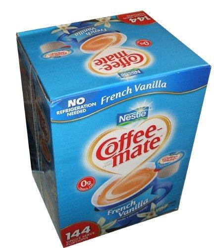 Nestle Coffee Mate Coffee Creamer French Vanilla Flavor 144 Single Serve Portions Value Box