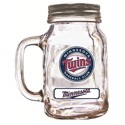 MLB Minnesota Twins Duckhouse 20 Ounce Mason Jar