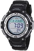 Casio SGW-100-1VEF Men's Quartz Watch with Grey Dial - Digital Display and Black Resin Strap