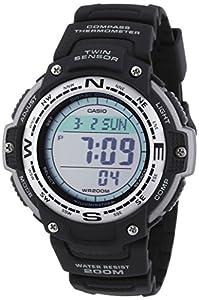 Casio Men's Quartz Watch with Grey Dial Digital Display and Black Resin Strap SGW-100-1VEF