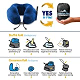 """CABEAU Memory Foam """"Evolution Pillow"""" + Small Bag - It Actually Works! - BLACK"""