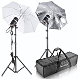 Neewer® 400W(200W x 2)Professional photographer Studio Strobe Flash Light Monolight Umbrella Lighting Kit for Portrait Photography,Studio and movie Shoots(ST-200)