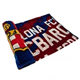 New Official Barcelona Football Team Fleece Blanket Large 140 x 200 CM