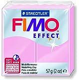 FIMO 1x Pâte à modeler à cuire EFFECT Rose Pastel, 57 g
