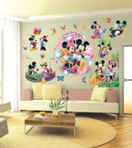 Adesivi murali topolino bambini ragazzo piccola - Camera da letto decorazioni murali ...
