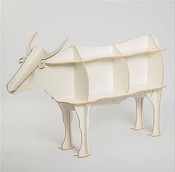 GZD Bestiame Libretto di modello di animale Scaffali Libreria creativa decorazione in legno Decorazioni domestiche 142,2 * 92cm , warm white