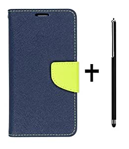 DENICELL Royal Dairy Style Flip Cover For Sony Xperia M (LAPIS BLUE,STYLING TOUCH PEN)