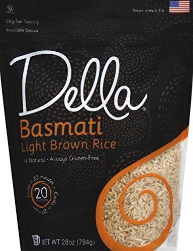 Della Gourmet 28 oz. Rice Basmati Light Brown, Case Of 6 by DELLA (Della Rice compare prices)