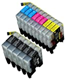 14 Pack Compatible Brother LC-71 , LC-75 5 Black, 3 Cyan, 3 Magenta, 3 Yellow