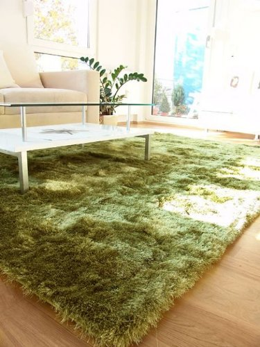 sakaka benuta poil long tapis shaggy whisper apple vert dimension 120x170 cm. Black Bedroom Furniture Sets. Home Design Ideas