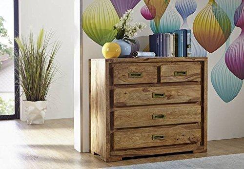 Palisander Holz Möbel massiv geölt Kommode Sheesham Massivmöbel Holz massiv braun Nature Brown #854 bestellen