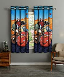 Disney- Athom Trendz- Cars- Kids- Window Curtain- Set Of Two- 48