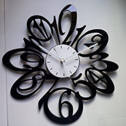 Wall Clocks Modern 15 in Large Black Red White Number Wall Clocks Wall Clocks Decorative Living Room Decor
