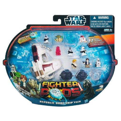 STAR WARS Fighter Pods Figure 12pk - REPUBLIC DROPSHIP PACK (Star Wars Dropship)
