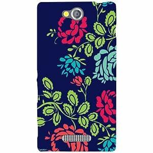 Sony Xperia C Back Cover - Flowers Art Designer Cases