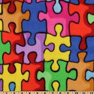 WinterFleece Jigsaw Puzzle Multi Fabric