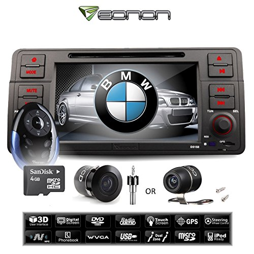 Eonon D5150U For Bmw 3-Series E46 + A0118 Flush-Mount Backup Camera In-Dash 7-Inch Lcd Touch Screen - Dvd / Gps Navigation (Usa/Canada) + Bluetooth